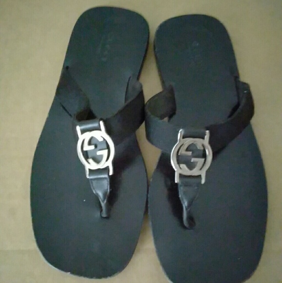 1261d7add Gucci Shoes - Gucci Womens Sandals GG Logo Flat Thong size 6.5